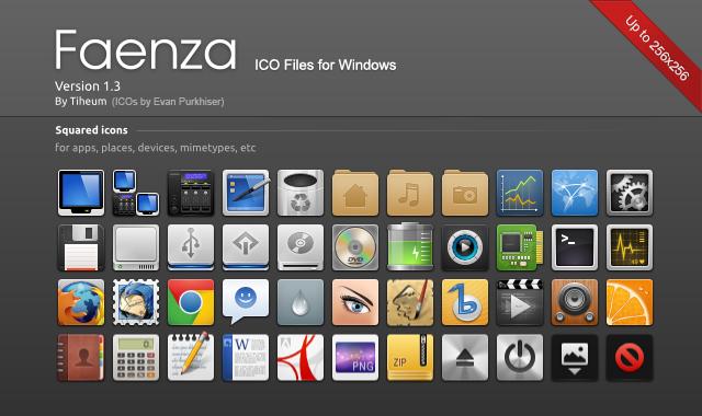 Faenza ICO files for Windows by EvanPurkhiser