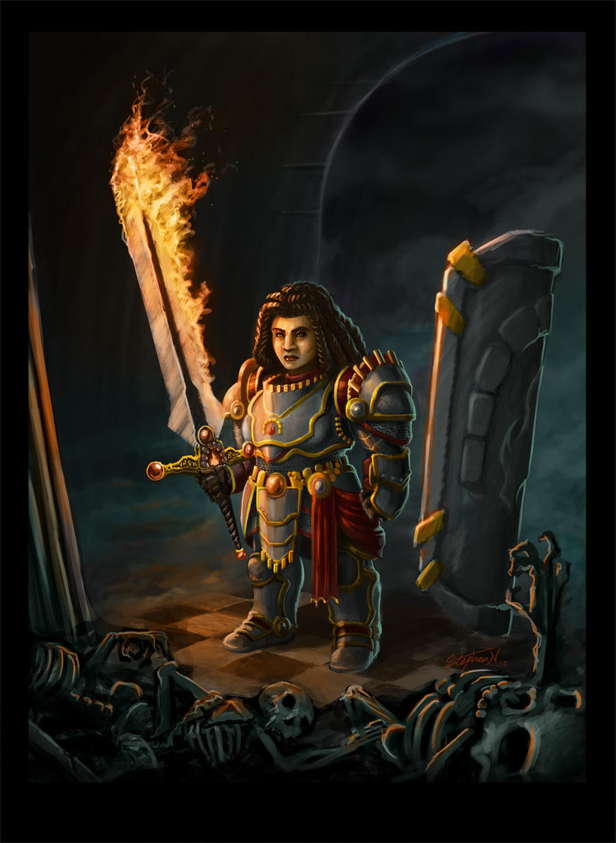 dwarf paladin commission by stevesketches on deviantart