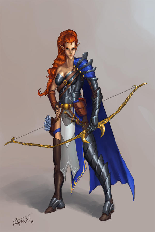 Elven Archer - Commission by SteveSketches