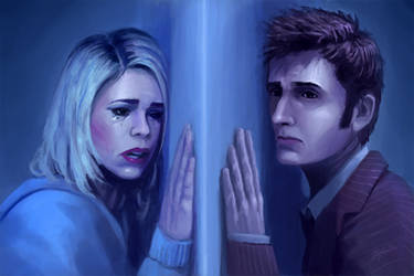 Worlds Apart - Dr. Who and Rose by SteveSketches