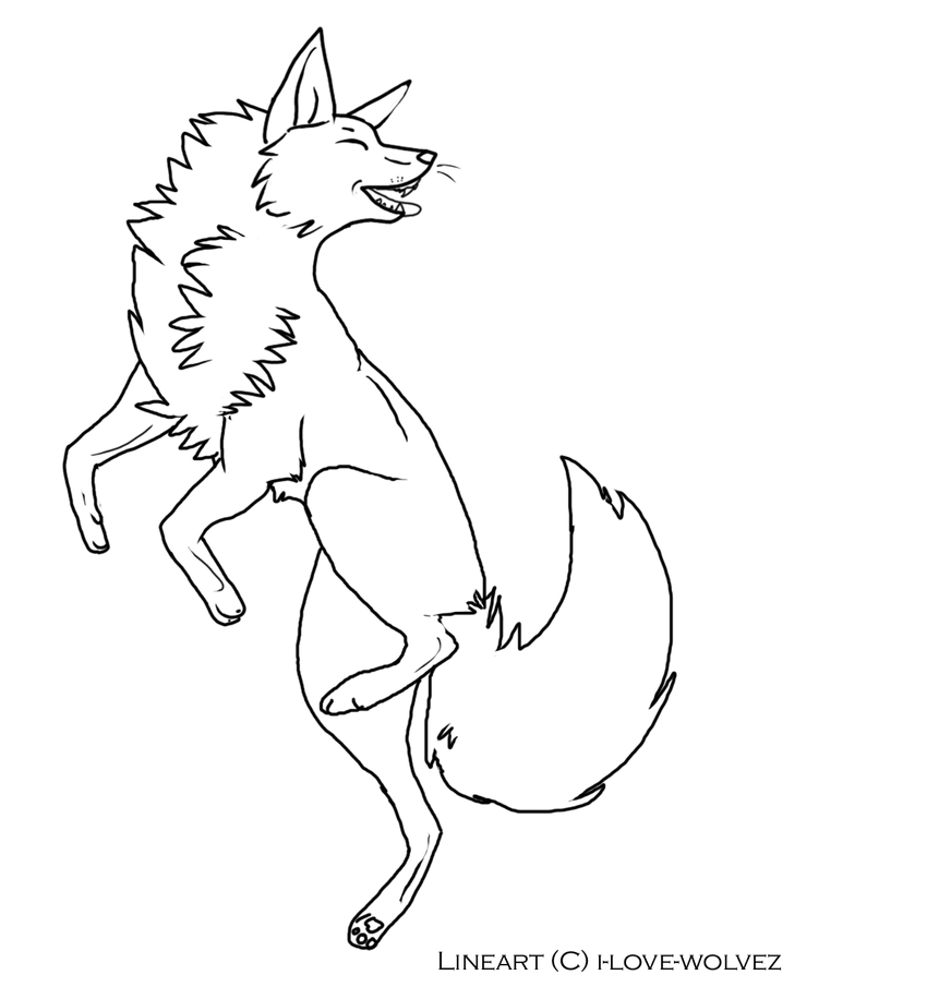 Line Drawing Fox : Fox lineart by i love wolvez on deviantart