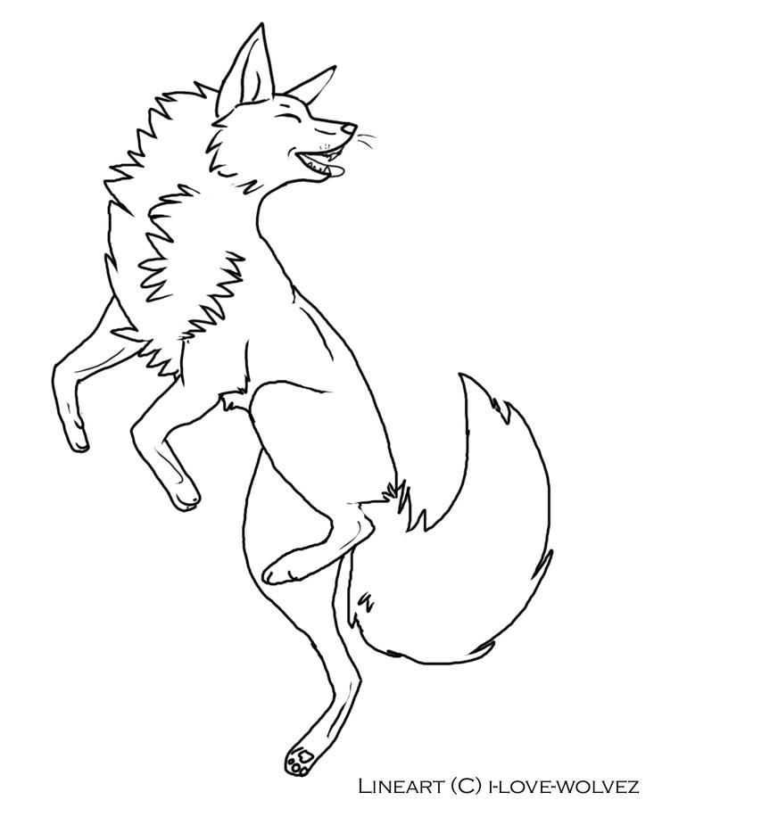 Line Art Fox : Fox lineart by i love wolvez on deviantart