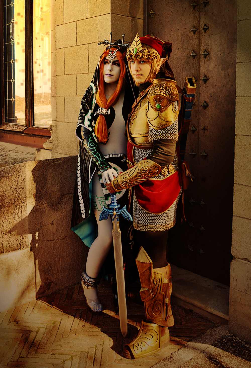 Link+Midna Fullbody by Yurai-cosplay
