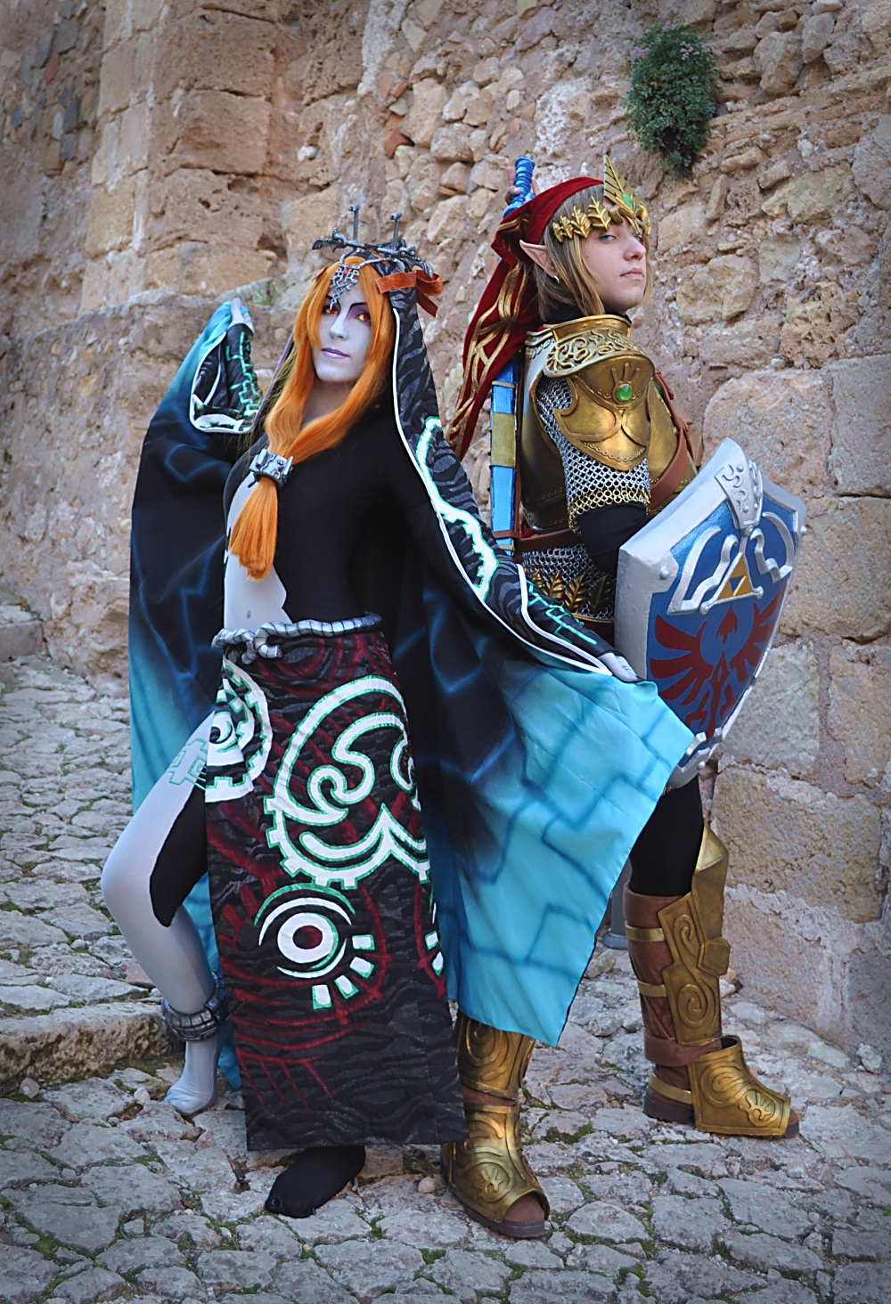 Midna+Link by Yurai-cosplay