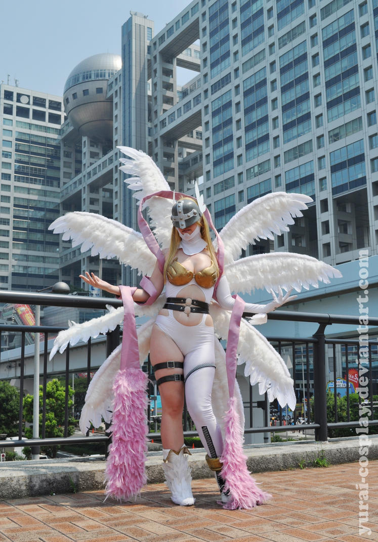 Angewomon at Odaiba by Yurai-cosplay