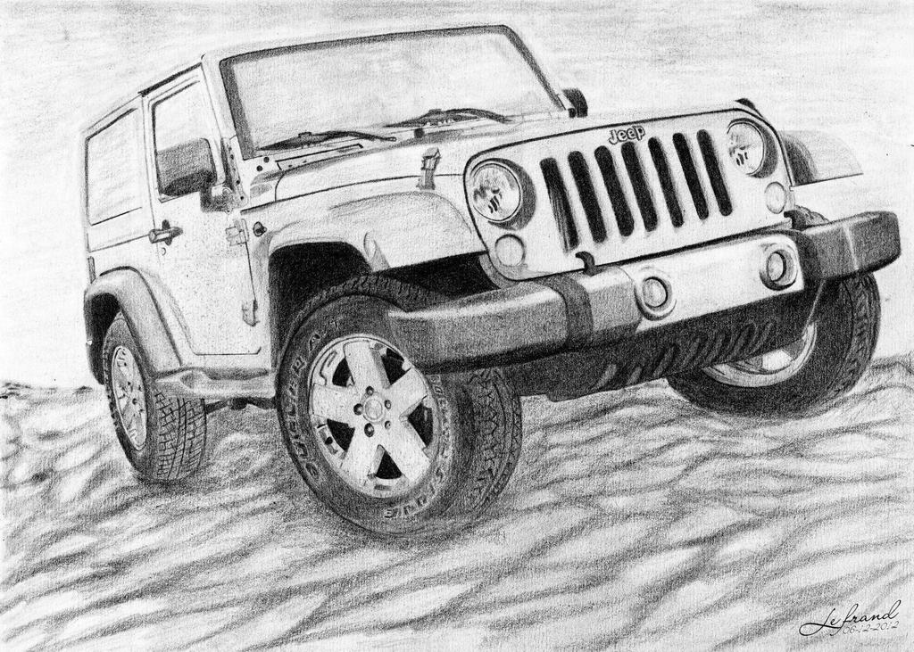 Line Drawing Jeep : Jeep wrangler rubicon by lefrandi on deviantart