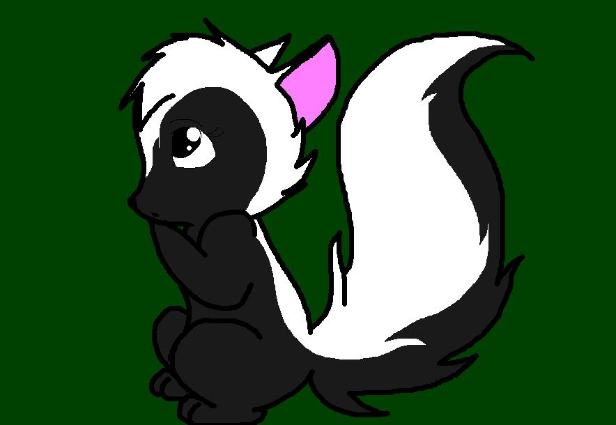 female skunk by dppuppy on deviantart