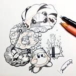 Kirby Inktober 2018 - Weak