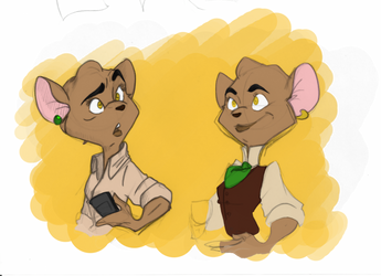 Edith Burke #1 and #2 by FrothingLizard
