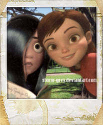 Sneaking a Selfie: Violet and Penny