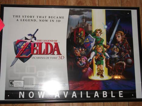 Zelda: Ocarina Of Time 3DS Poster