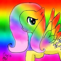 FlutterShy Rainbow by twilight-the-bunny78