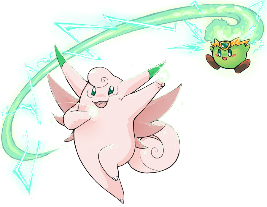 Shiny Clefable and Plasma Kirby for Charity by Charizardtamer12