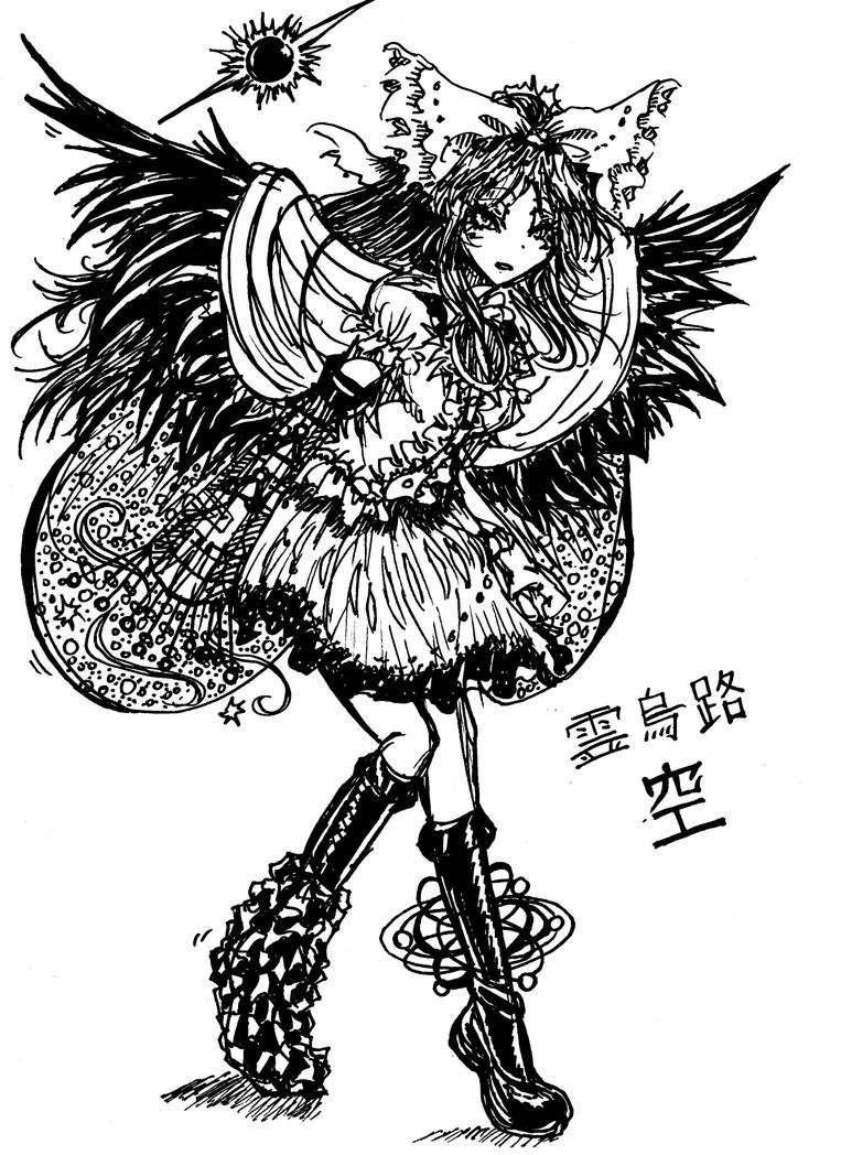 Marker pen Utsuho by Akiro-Atalanta