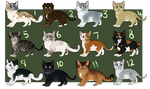 Realistic cat adopts 5 - 3/12 OPEN by ScorchHound-Adopts