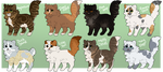 Fluffy cat adopts 3 - OPEN - 6/8 by ScorchHound-Adopts