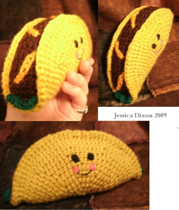 Amigurumi Taco Crochet by whinnteress