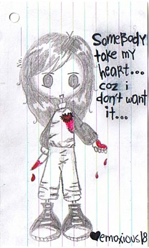 Sad Emo Girl By Emoxious18 On DeviantArt