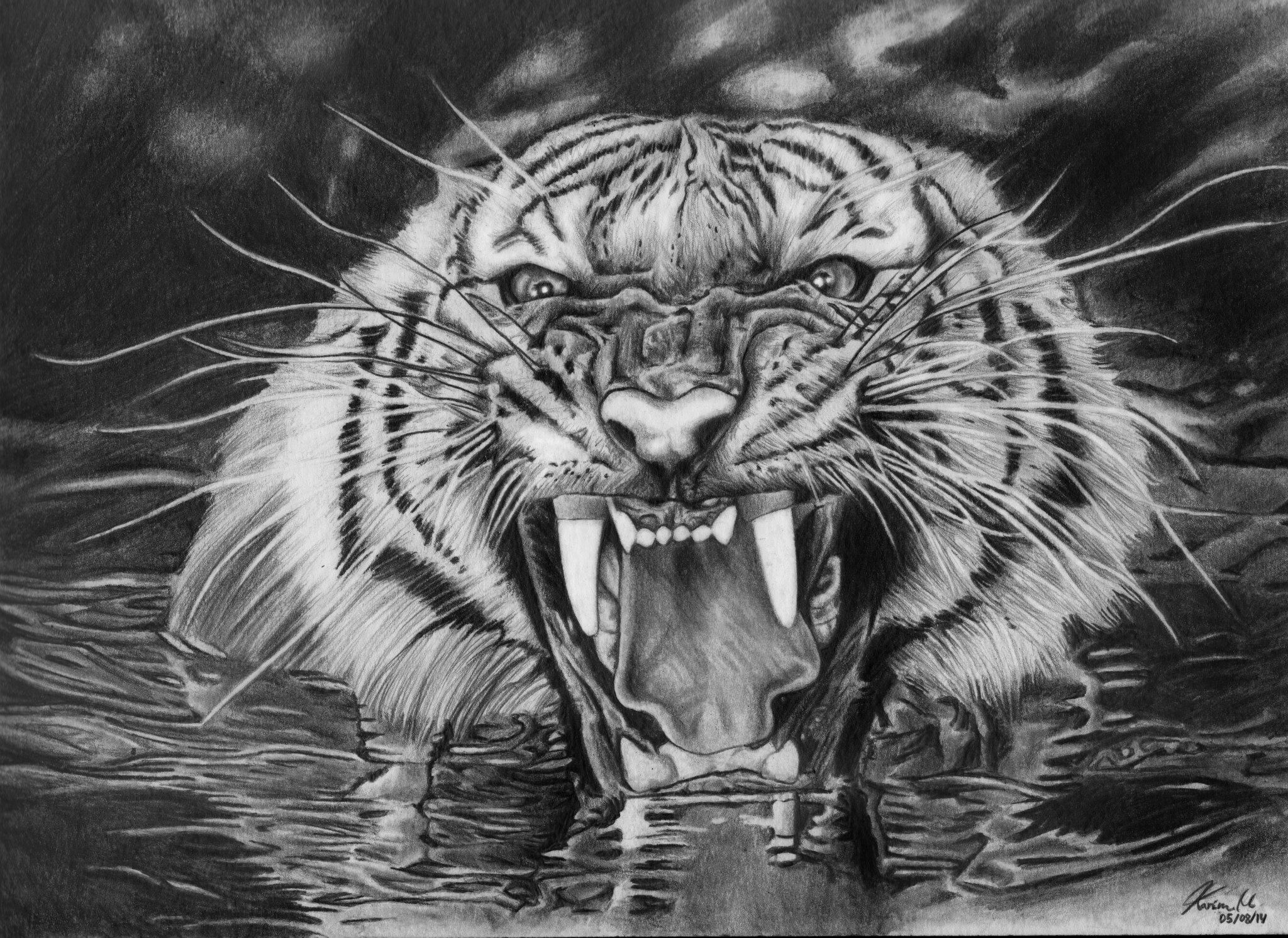 Richard parker life of pi by popokarimz on deviantart for Life of pi characters animals