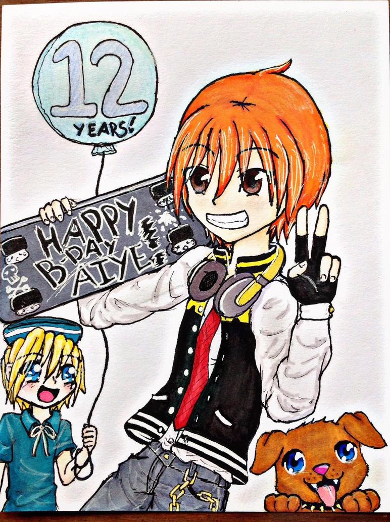 Happy birthday from Jake, Zen  Spike! by RoseDra90n