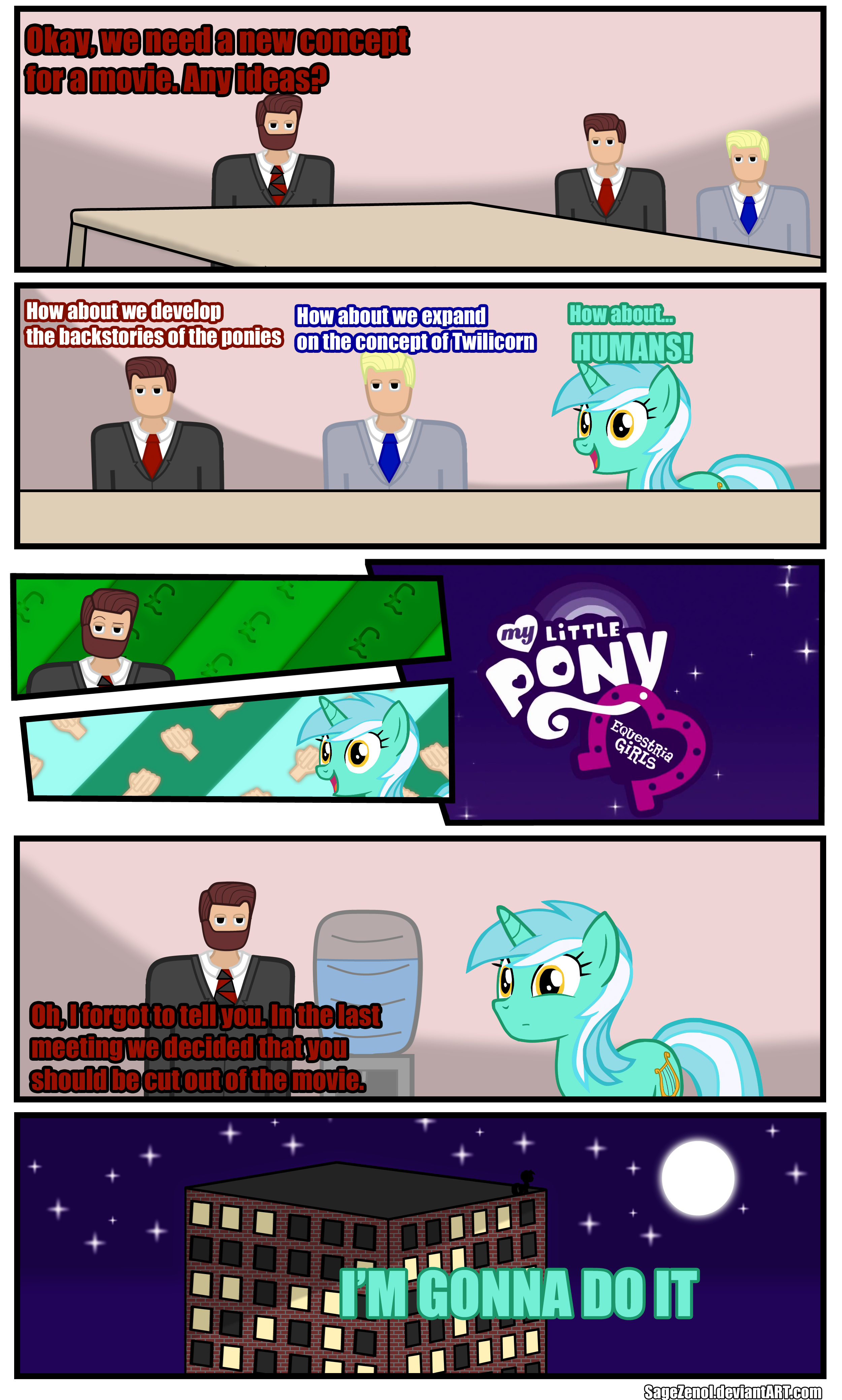 What if Lyra invented Equestria Girls? by SageZenol