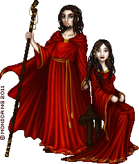 Kryen Pyrus and Myria Pyram by Monica-NG
