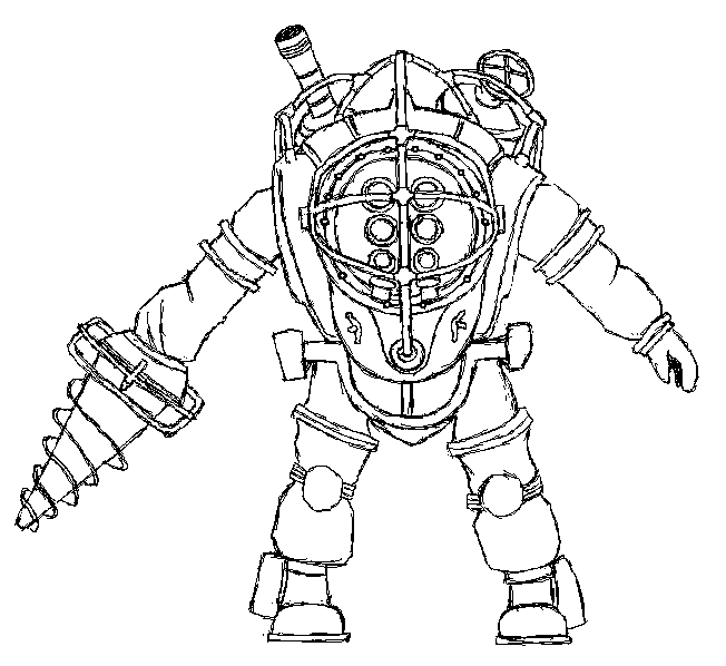 Bioshock Free Coloring Pages