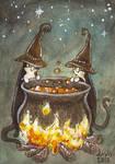 Cauldron Cats ACEO