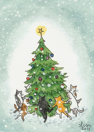 Dance Around the Christmas Tree by liselotte-eriksson on DeviantArt