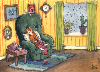 Knitty kitty napping by liselotte-eriksson