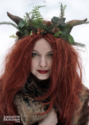 Deep in the Woods head wreath by liselotte-eriksson