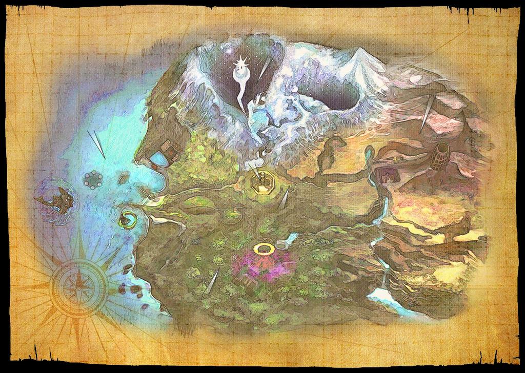 The Legend of Zelda: Majora's Mask Map by Bruellkaefer