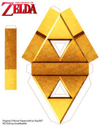 Triforce Papercraft by ryo007 updated be me