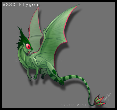 16. December: Flygon. by Soulfoxii