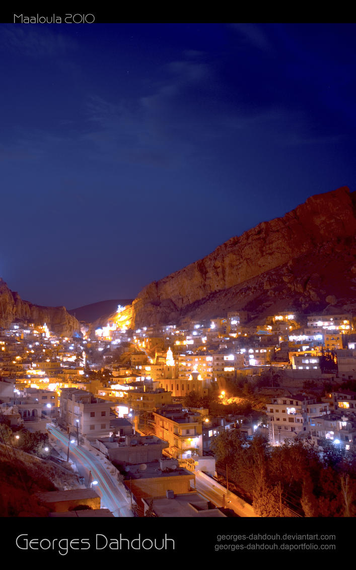 maaloula at night 3 by georges-dahdouh ... & maaloula at night 3 by georges-dahdouh on DeviantArt