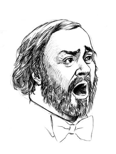 Luciano Pavarotti by georges-dahdouh