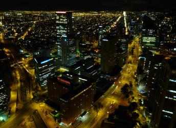 Bogota at night by joanfmendo
