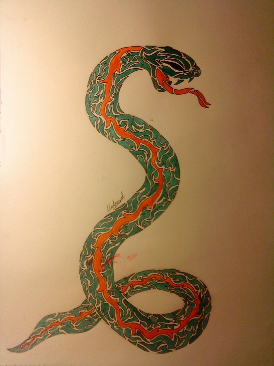 tribal snake tattoo design by nutcase426 on deviantart. Black Bedroom Furniture Sets. Home Design Ideas