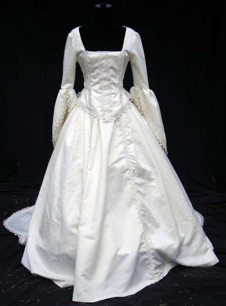 Victorian wedding gown by ravennacat on DeviantArt