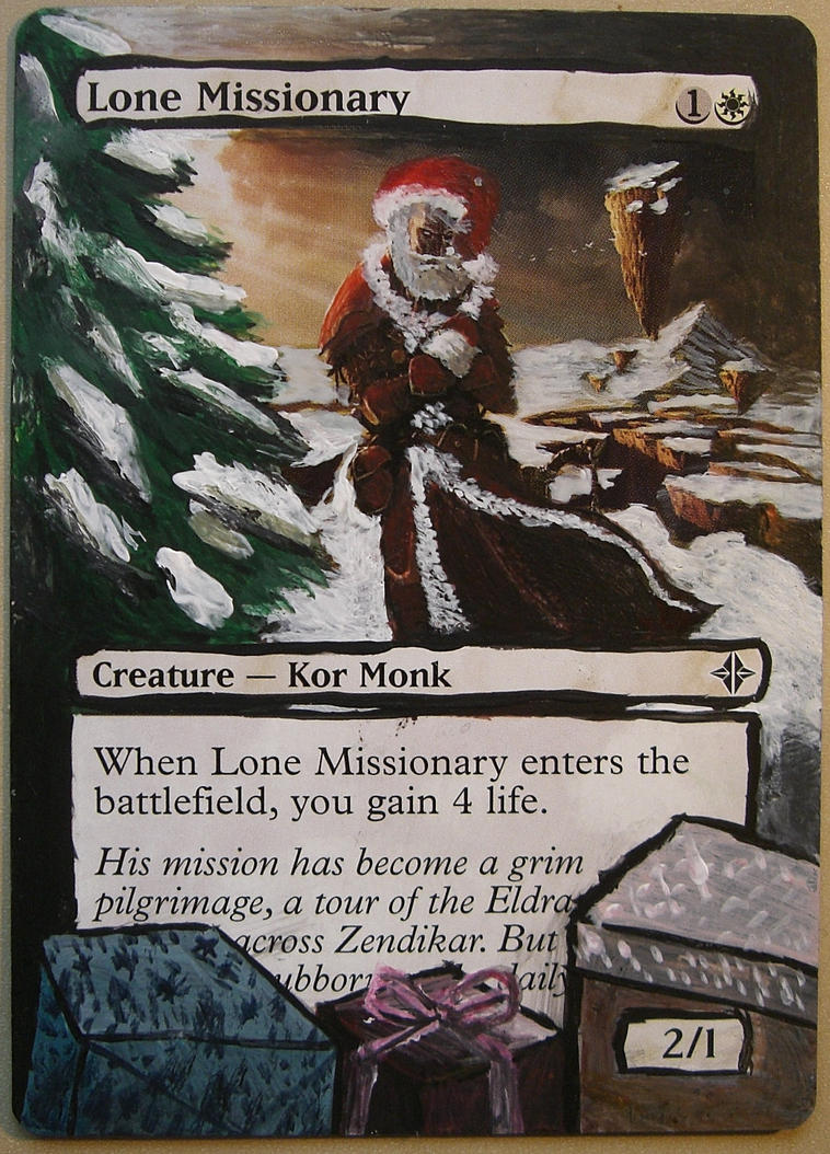 7 Magic The Gathering Card Alters For Christmas Clever Move
