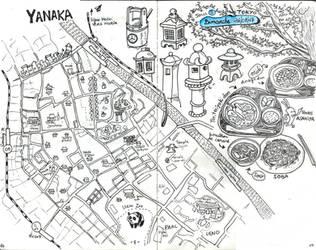 [Japan 2017] A map of Yanaka (Tokyo) by EpsilonEridani