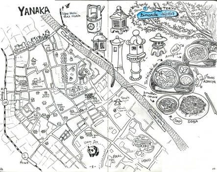 [Japan 2017] A map of Yanaka (Tokyo)