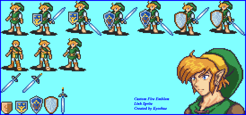 Link Sprites by kyoskue