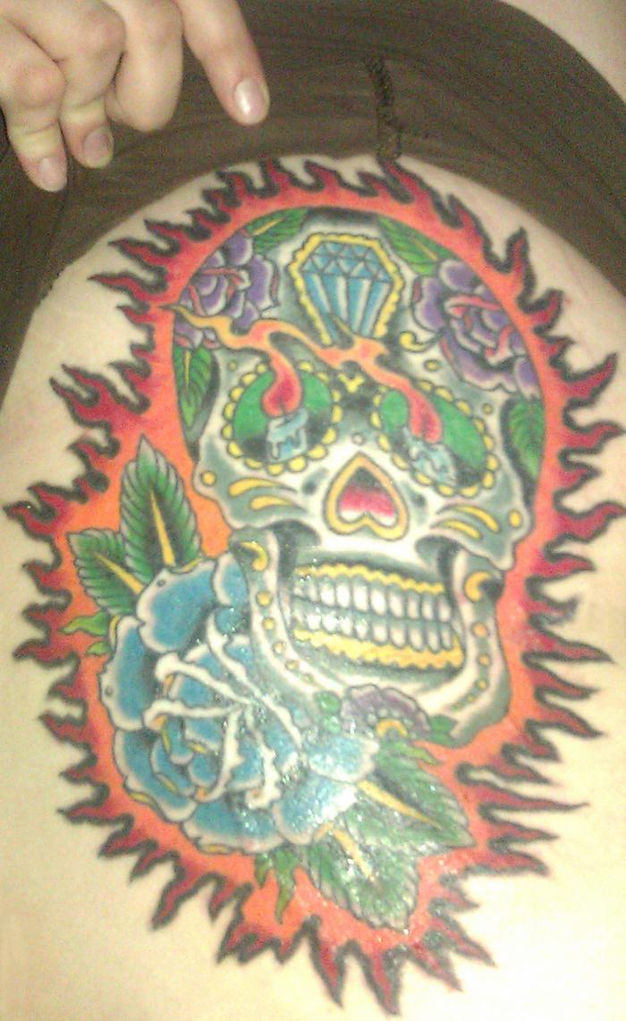 Sugar skull tattoo by bendtosquaresx on deviantart for Tattoo shops in wichita ks