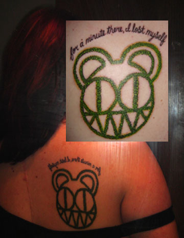 radiohead scary bear tattoo by bendtosquaresx on deviantart. Black Bedroom Furniture Sets. Home Design Ideas