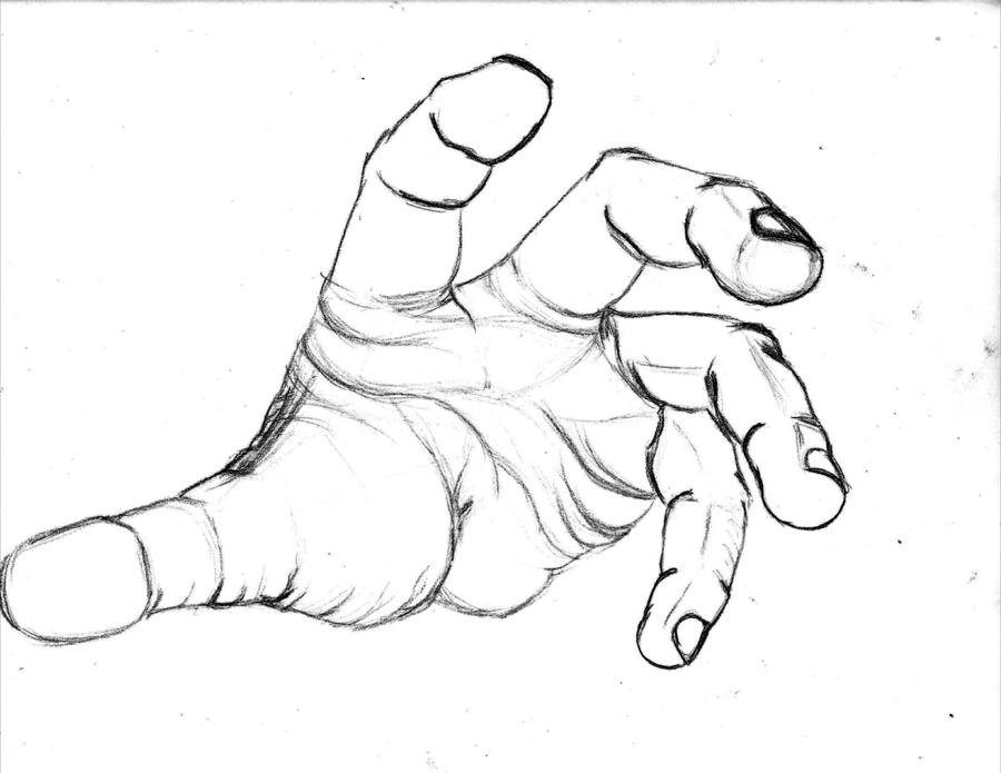 D Line Drawing Hand : Hand pencil jammers