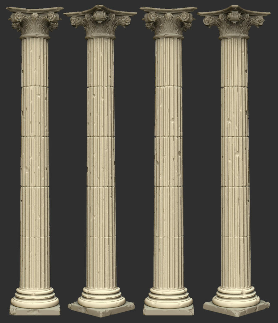 greek pillar highPoly by manfredp on DeviantArt