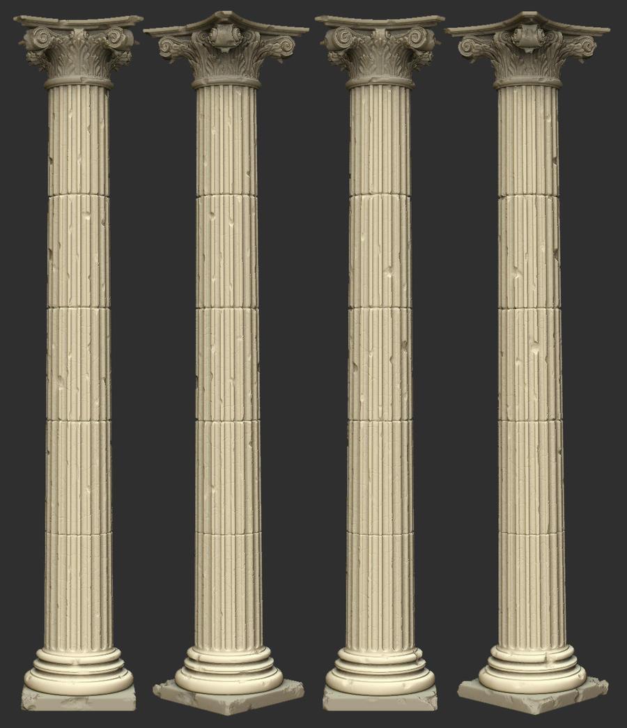 greek pillar highPoly by manfredp on DeviantArt