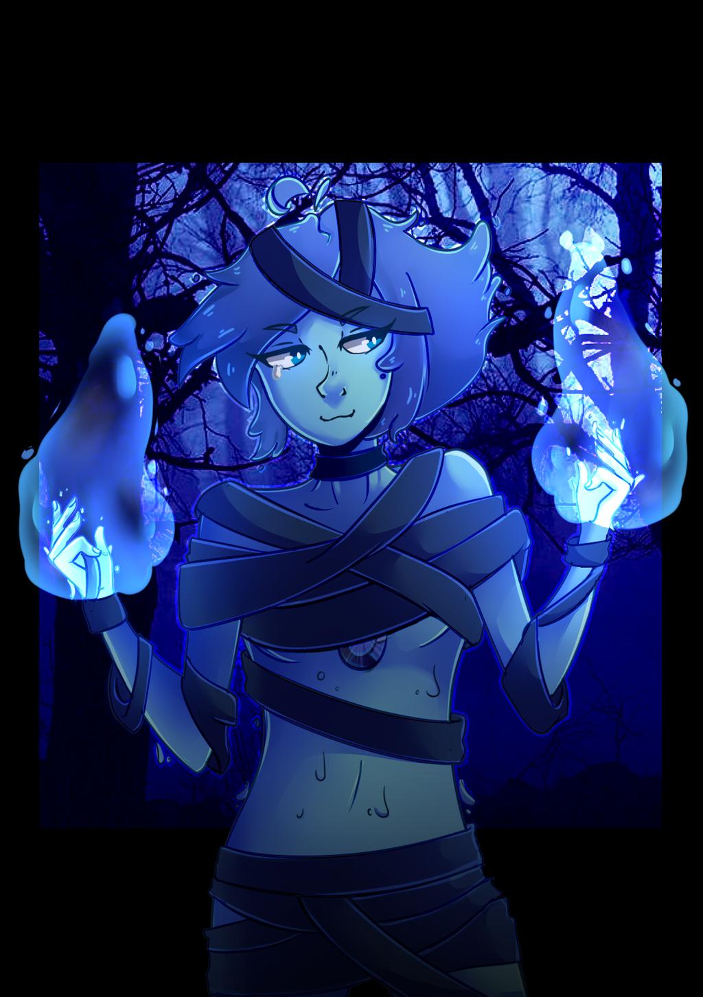 lapis lazuli steven universe fanart halloween by