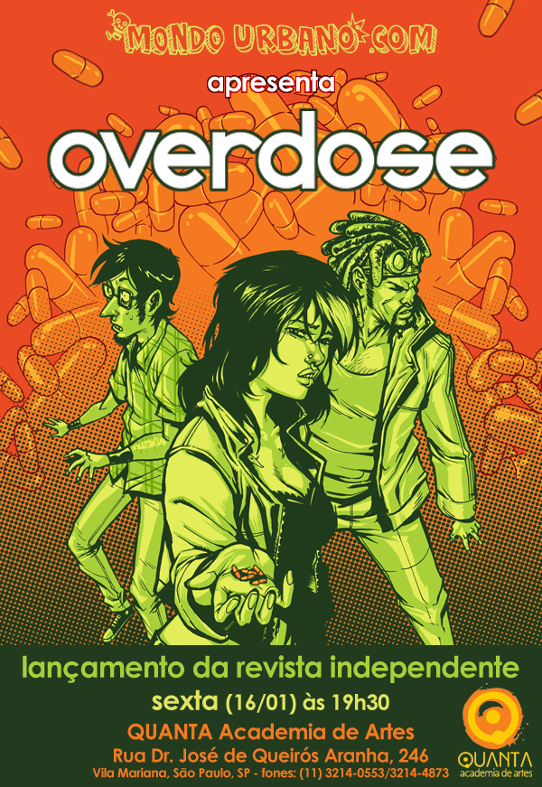 Overdose flyer by Santolouco